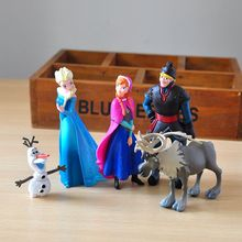 Disney Frozen Toys 5pcs/Set 5-10cm Elsa Anna Action Figure C