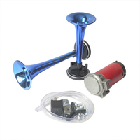 12V 178dB Auto Car Trumpet for Motorcycle Boat Truck Super Loud Dual Tone Air Claxon Horn High Output Compressor Set
