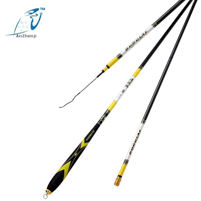 ANZHENJI New 2017 Taiwan Stream Rod Carbon Fishing Rod Crap Fish 37 Tone Power Pole Peche Ocean Boat Fishing Stream River