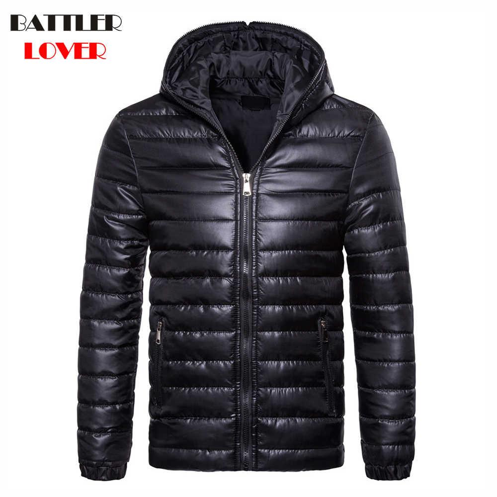 겨울 남성 다운 재킷 화이트 오리 다운 재킷 두꺼운 따뜻한 슬림 코트 후드 파카 hombre 남성 코트 아웃웨어 의류