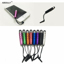 1pcs Plastic Touch Screen Pen Capacitive Stylus Pen Colourful For Smart Phone Tablet For iPad For iPhone AIBOULLY