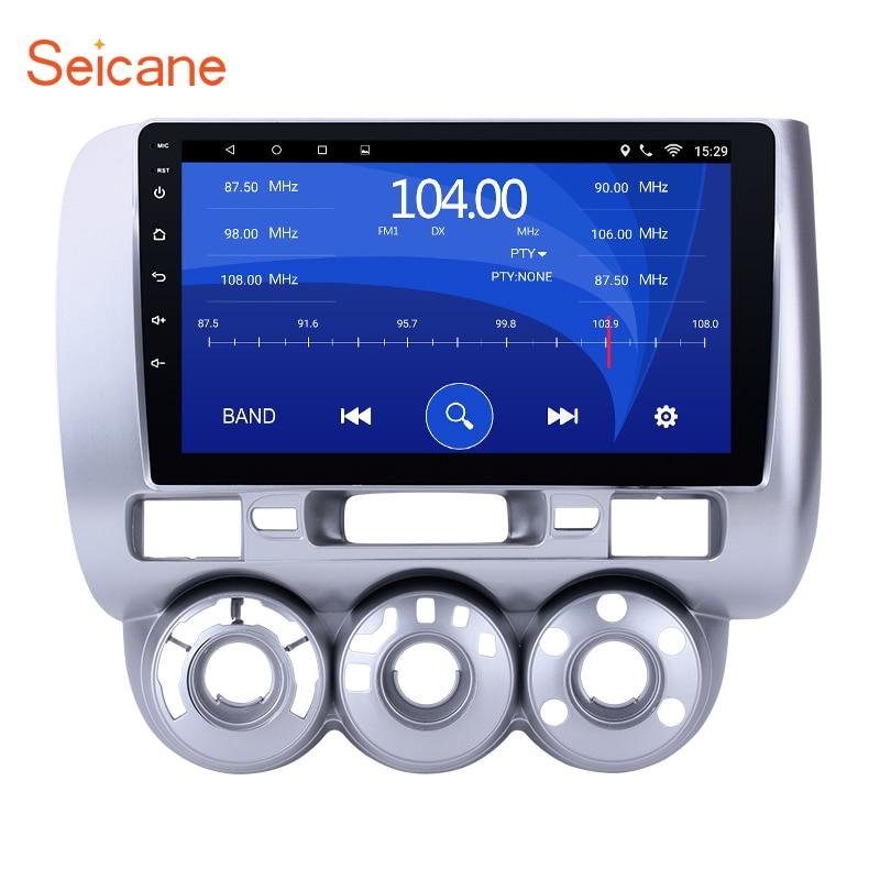 Seicane 9 pouce Android 6.0 Voiture Lecteur Multimédia 1024*600 Écran Tactile GPS navigation pour 2002-2008 HONDA Jazz manuel AC LHD