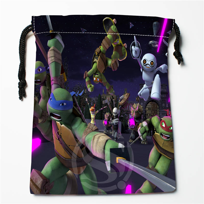 V#bF67 New Teenage Mutant Ninja Turtles Custom Printed  Receive Bag Compression Type Drawstring Bags Size 18X22cm 7=12JvF67