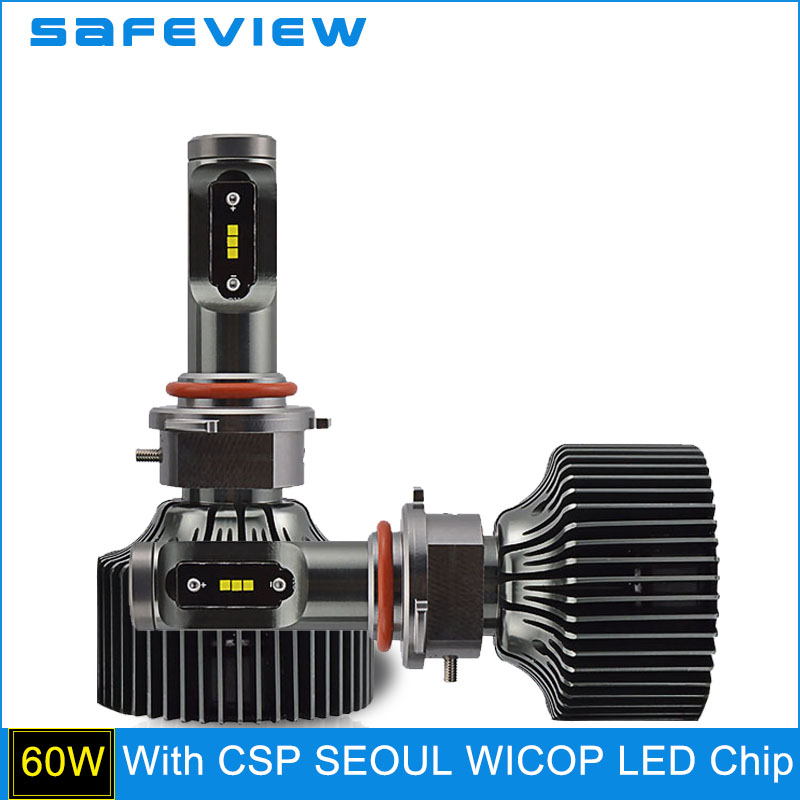 ФОТО SAFEVIEW 30W LED HB4 9006 12V 4200LM 5000K 6000K CSP Leds HeadLight Replacement for Toyota INFINITI/Nissan/Dodge