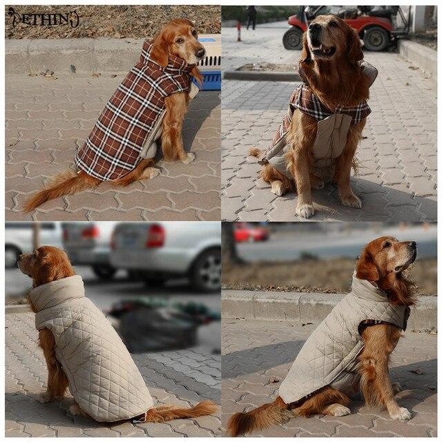 HOT S-3XL Reversibile vestiti del cane di inverno quattro colori giacca invernal
