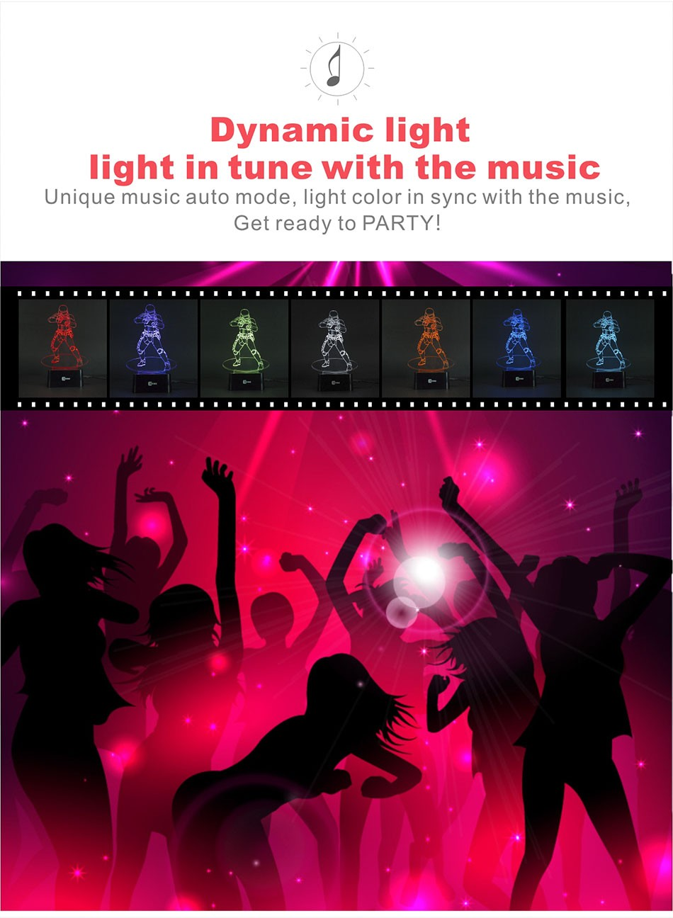 CNHIDEE USB Novelty Star Wars Bluetooth Music Desk Lampara 3D Stormtrooper Bulbing Led Luz de Noche Engraving Night Light Decor as Creative Gifs  (4)