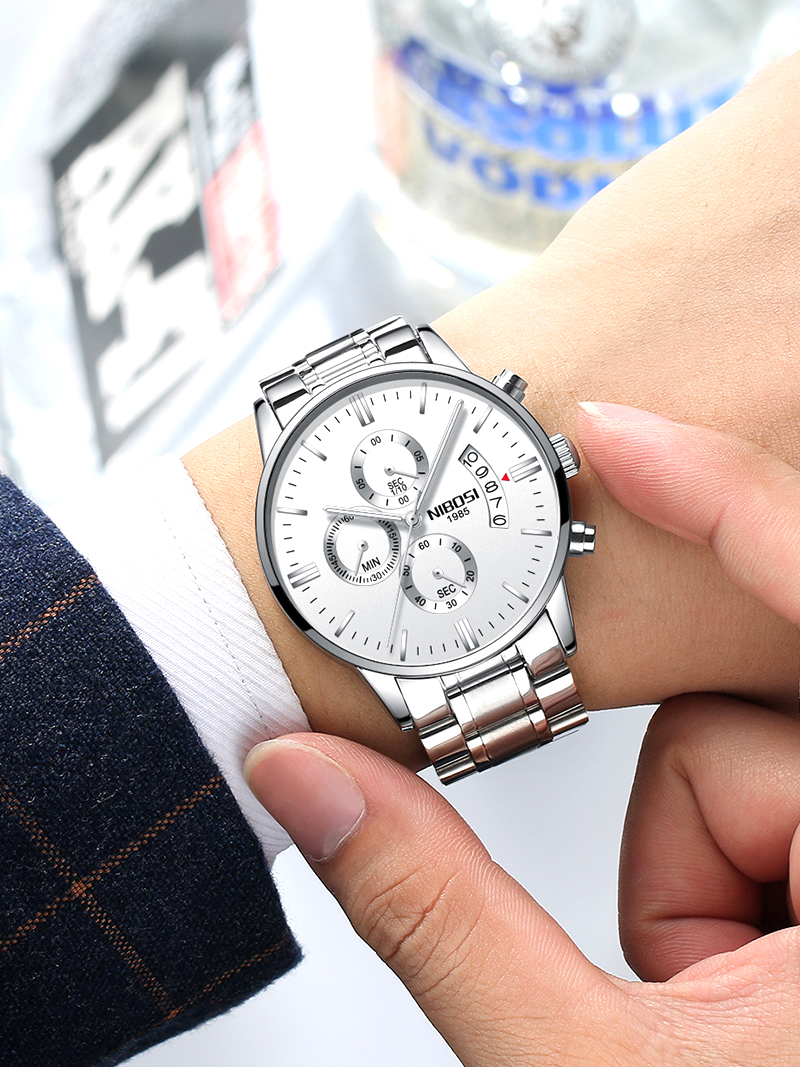 2018 NIBOSI Gold Quartz Watch Top Brand Luxury Men Watches Fashion Man Wristwatches Stainless Steel Relogio Masculino Saatler    (22)