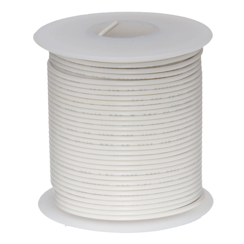 30Meters White 28AWG <font><b>UL1007</b></font> Cable Electronic Wire To Internal Wiring Electrical Wires DIY Cables 100FT 28 AWG image