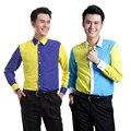S-3XL! NUEVA camisa de manga larga de los hombres fotografiados foto estudio coro Jieke camisa etapa trajes camisa de vestir formal,