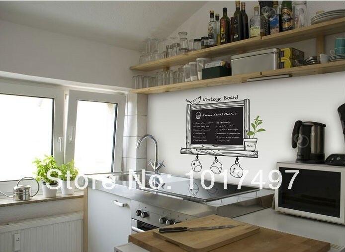 Aliexpress Com Buy Wholesale Kitchen Chalkboard Free Shipping Via Express Modern Blackboard Removable Waterproof Vinyl Wall