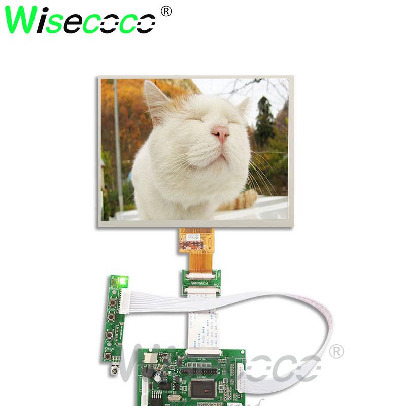 1024*768 8 Inch Screen Display HE080IA-01D HJ080IA-01E LCD TFT Monitor With Driver Control Board 2AV HDMI VGA For Raspberry Pi B
