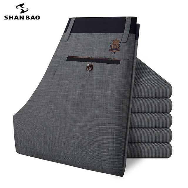 ШАО БАО бренд мужской Тонкий хлопок случайных брюки 2017 весной и летом роскошный высокое качество серые брюки вышивка большой размер