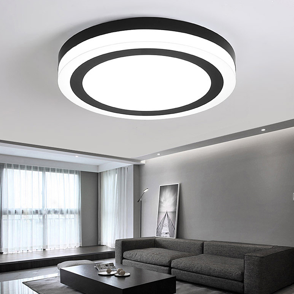 Round Led Ceiling Light modern minimalist rectangular office balcony lighting Fixture Indoor ceiling lamp living room AC 90-265v creative bedside wall lamp modern minimalist rectangular corridor balcony living room bedroom background lighting fixture