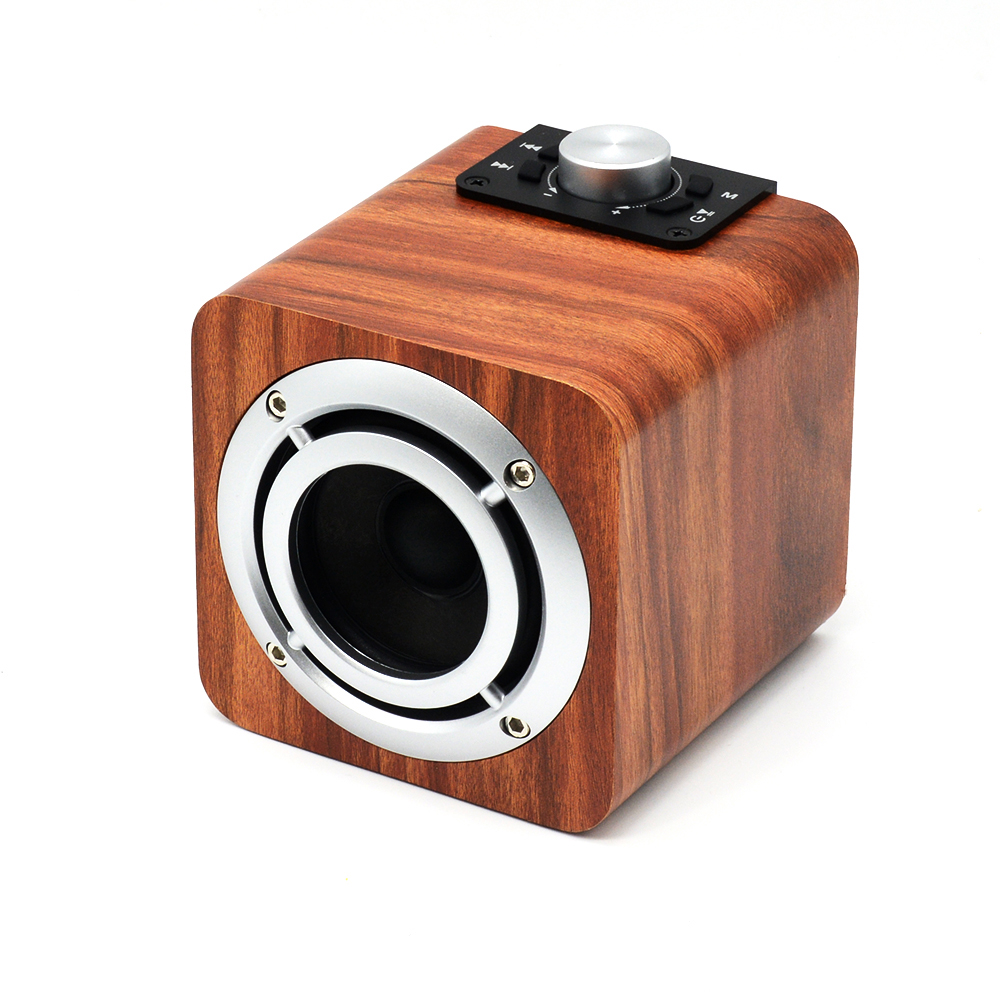Фотография Wooden Bluetooth HiFi Speakers Wireless desk Subwoofer Bluetooth radio tf card aux