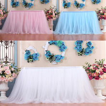 Dropshipping 1PC Table Skirt Cover Birthday Wedding Festive Party Decor Table Cloth(China)