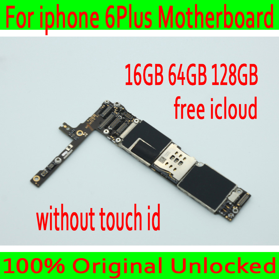 With OS System for iphone 6 Plus 5.5inch Motherboard without Touch ID,Original unlocked for iphone 6Plus Mainboard Free iCloudWith OS System for iphone 6 Plus 5.5inch Motherboard without Touch ID,Original unlocked for iphone 6Plus Mainboard Free iCloud
