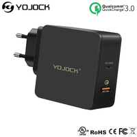 YOJOCK 48W USB Type C PD Wall Charger USB C Charger with Power Delivery for iPhone X / 8 / 8 Plus MacBook Smart Port for Xiaomi