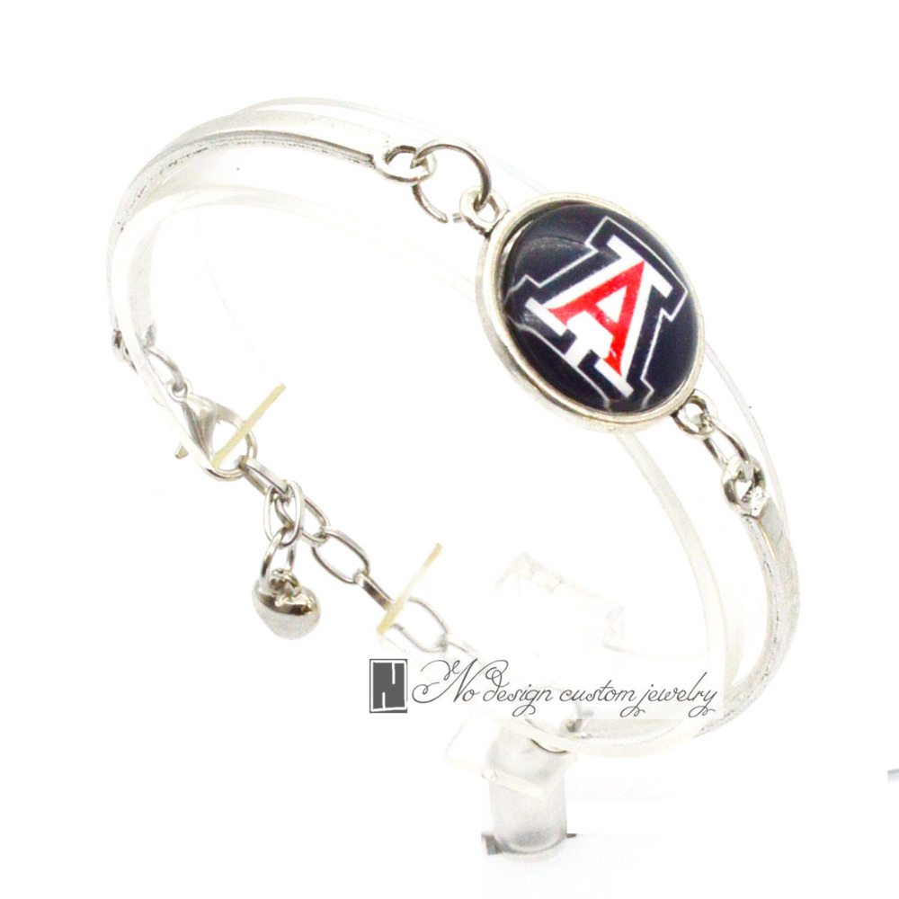 2017 Trendy Jewelry Sport Bracelet NCAA Arizona Wildcats Charms Bracelet&Bangle Women Men Fashion Accessories