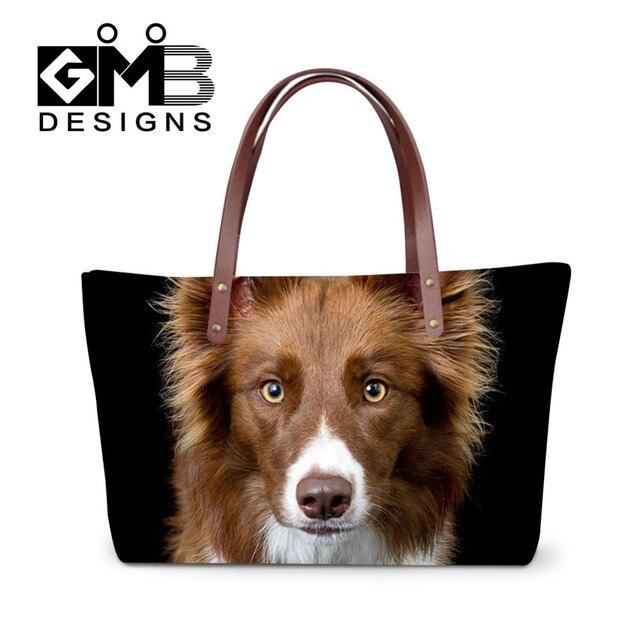 Fashion Women Handbags Animal Printing Dog Shopping Bags Large Casual  Ladies Girls Travel Tote Shoulder Bag Bolsa Feminina 4cbc98ec65677
