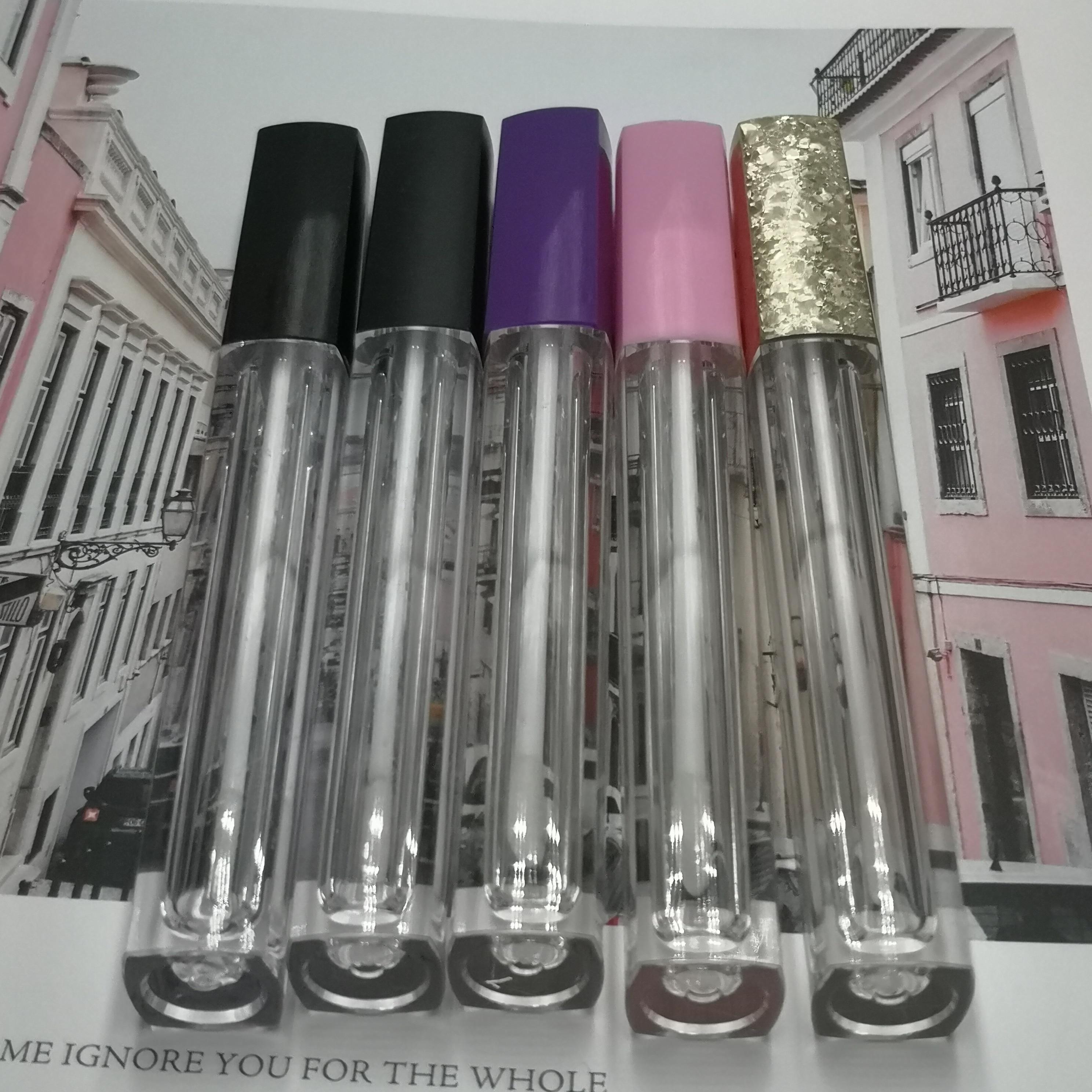 4ML Empty Square Clear Cosmetic Liquid Lipstick Storage Bottle DIY Plastic Lip Gloss Tube High end
