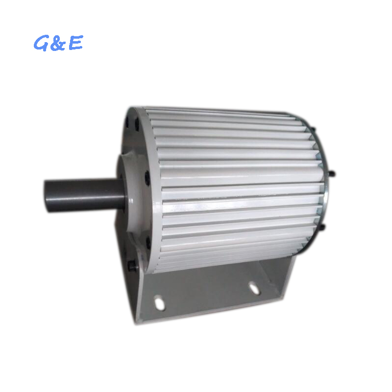 Low rpm ac three phase output 2kw generator permanent magnet alternator PMG 2000w with base
