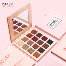 IMAGIC Eyeshadow Powder 16 Colors Palette Shimmer Matte Eye Shadow Waterproof  Cosmetics Mineral Glitter