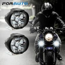 1 Пара мотоциклетный головной светильник 6500k белый супер яркий 6 Светодиодный точечный светильник для езды на мотоцикле противотуманная фара 1200LM Светодиодный точечный светильник для скутеров