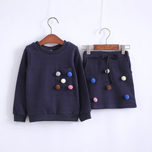 Warm Sweater and Skirt Set for Girls