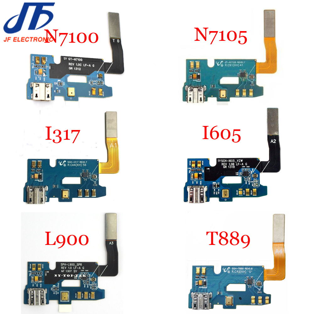 10pcs USB Charger Charging Dock Connector Port Flex Cable For Samsung Galaxy Note 2 II N7100 N7105 I317 T889 L900 I605 versions title=