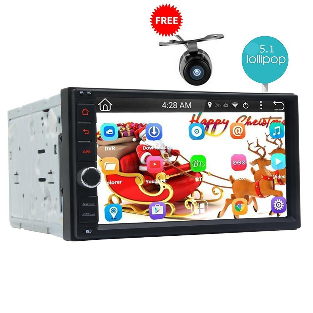 Android 5.1 Car Radio Double Din Stereo Quad-Core GPS Navi Wifi Bluetooth/RDS/SD/USB/Subwoofer/OBD2/3G/4G Apple Play Mirror link автомобильный dvd плеер joyous kd 7 800 480 2 din 4 4 gps navi toyota rav4 4 4 dvd dual core rds wifi 3g