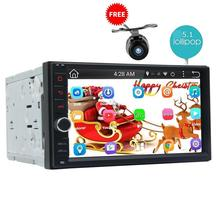 Android 5.1 Car Radio Double Din Stereo Quad-Core GPS Navi Wifi Bluetooth/RDS/SD/USB/Subwoofer/OBD2/3G/4G Apple Play Mirror link