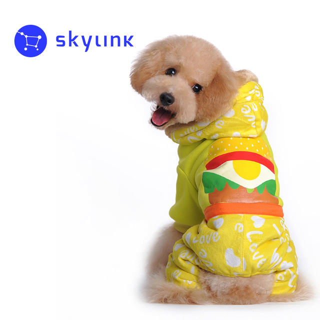 Dog Costume Hamburger Cartoon Design Coat For Dog Winter Hond Kerst