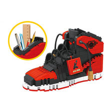 Mini Plus Air J Super Schoenen Bouwstenen Sneakers Model Pen Container Bricks Potlood-Doos Speelgoed Voor Kinderen Briefpapier jongens(China)