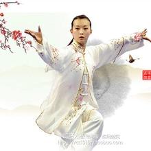 Customize Tai chi clothing taiji sword performance suit kungfu uniform shawl embroidery for women children girl men boy kids
