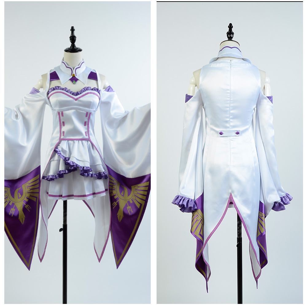 Re Zero Cosplay Life in a Different World Costume Zero Female Emilia Satella Cosplay Costume Carnival Halloween Carnival