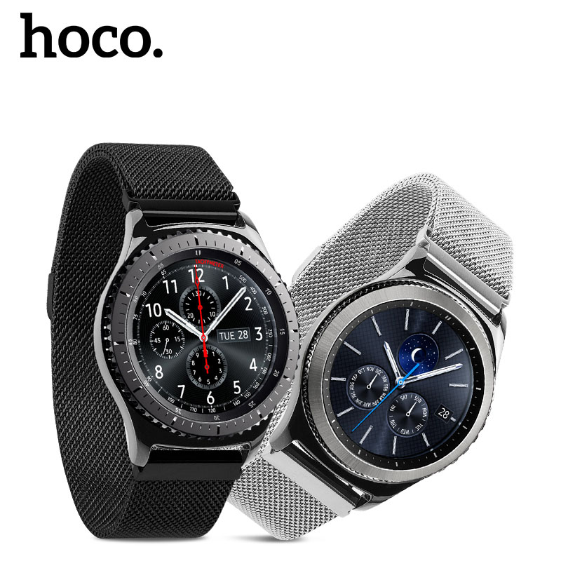 HOCO Milanese Loop Band For Gear Samsung Galaxy S3 Frontier Magnetic Clasp Watch Band For Gear S3 Classic Stainless Steel Strap hoco classic stainless steel wrist strap for samsung galaxy gear s3 frontier band for samsung gear s3 classic watchband s3 strap