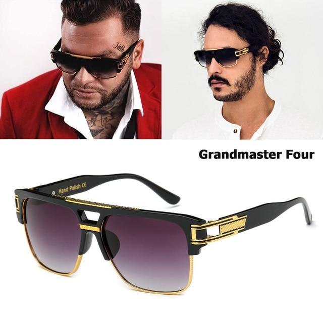 0a9505a2abcb56 JackJad Nouvelle Marque De Mode Design Grand Maître Quatre Lunettes De Soleil  Hommes Rétro Vintage Hip