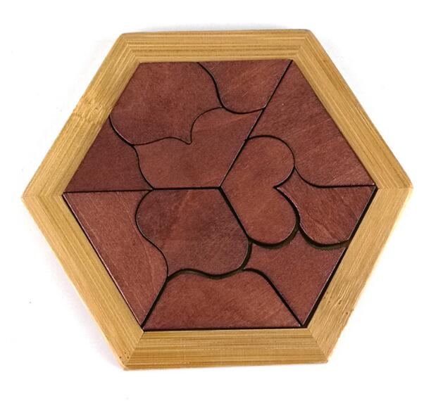 2017 New Montessori Wooden Tangram Jigsaw Board Puzzle Kids Educational Wood Game Toys for Children Gift