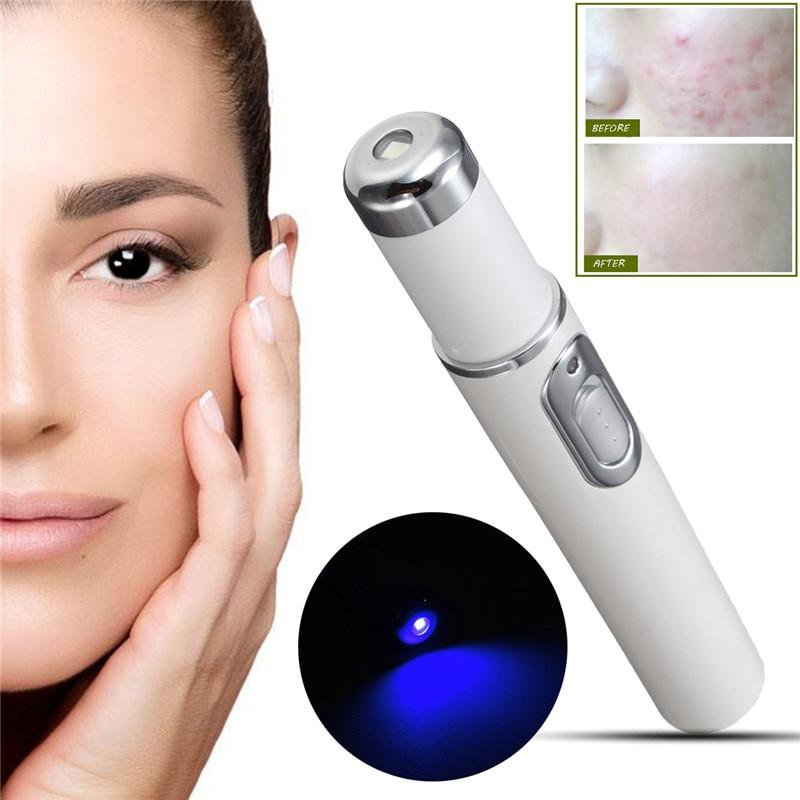 Blue Light Therapy Acne Penna Laser Morbido Dispositivo di Trattamento della Cicatrice Rimozione Delle Rughe Del Viso Strumenti di Cura Della Pelle Degli Occhi Massaggiatore