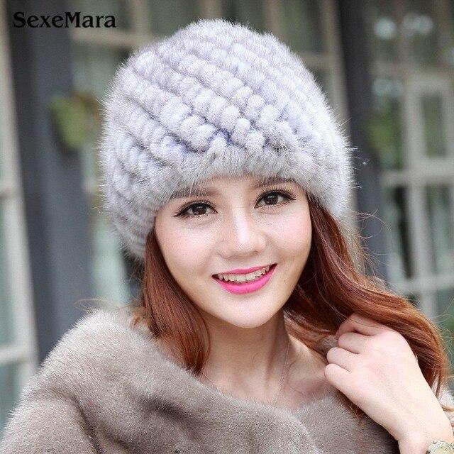 Шляпа Моды Теплый Skullies Защита Ухо Шапки Меховые Шапки Меховой шляпы для Женщин Зима Капот Femme женские Зимние Шапки Бесплатно доставка