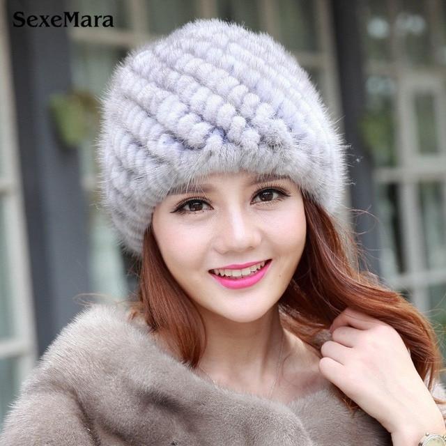 aae0536f18a2da Hat Fashion Warm Skullies Ear Protection Cap Fur Caps Fur Hats for Women  Winter Bonnet Femme