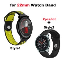 22mm Bracelet Strap For Xiaomi Huami Amazfit GTR 47mm Pace Stratos 2 Pulsera Correa For Samsung Gear S3 Galaxy 46mm Watch Band amazfit leather bracelet watch band 22mm for xiaomi huami amazfit pace stratos 2 correa wrist strap for samsung gear frontier s3