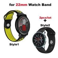 Купить с кэшбэком Silicone Bracelet Watchband Men Women Band 22mm Smart Watch Wrist Pulsera Correa Strap Black Wristband Quick Release WristStrap