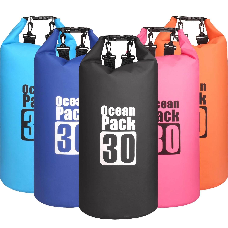 30L Wasserdicht Wasserdicht Trockentasche Sack Lagerung Packung Beutel Schwimmen Outdoor Kajak Kanu Fluss Trekking Bootfahren
