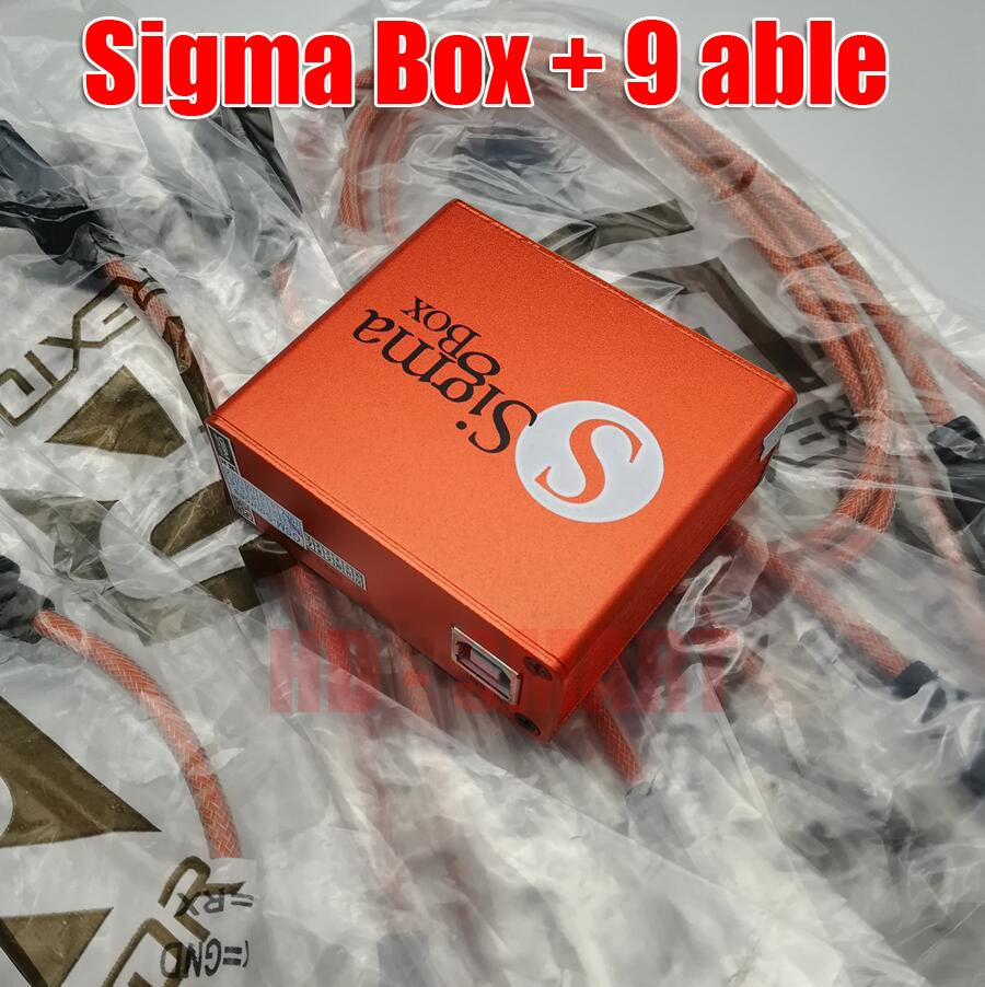 2018 version original  Sigma box + 9 cables Sigma Box with Cable Set (9 pcs)-in Telecom Parts from Cellphones & Telecommunications    3