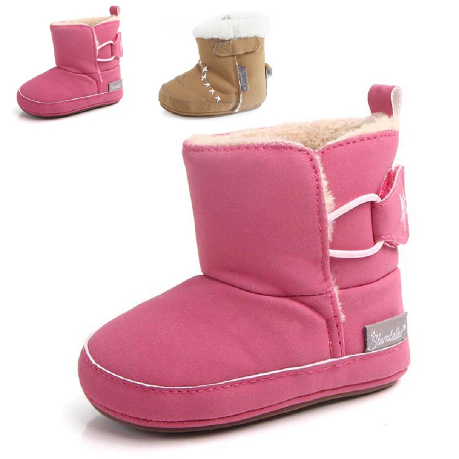 HONGTEYA venta caliente para bebé, Súper Cálido Zapatos Arco Dulce de La Manera Winter Baby Girl Princess Cuna Bebe Nieve Suela Blanda nieve botas