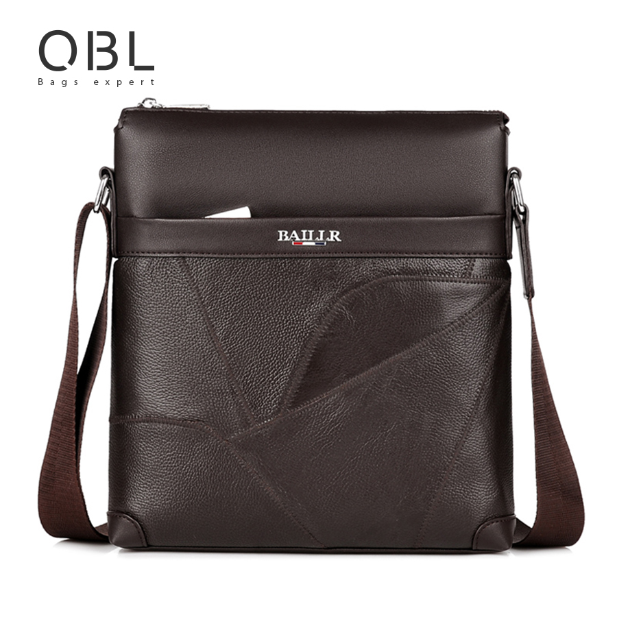 QiBoLu 2017 Genuine Leather Messenger Bags Men Crossbody Shoulder Bag for Man Business Sacoche Homme Bolsa Bolso Hombre 8802-1 men and women bag genuine leather man crossbody shoulder handbag men business bags male messenger leather satchel for boys
