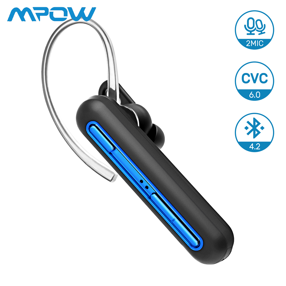 Newest Mpow EM10 Business Wireless Headset Bluetooth Earphones With Dual Mic Handsfree Earphones with 15 Hrs Playtime for iPhoneNewest Mpow EM10 Business Wireless Headset Bluetooth Earphones With Dual Mic Handsfree Earphones with 15 Hrs Playtime for iPhone