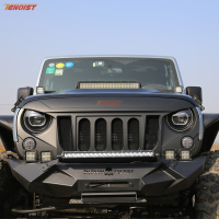 The Newest High Strength Black ABS Grille Six Holes With Bug Screen For Wrangler JK 07 16