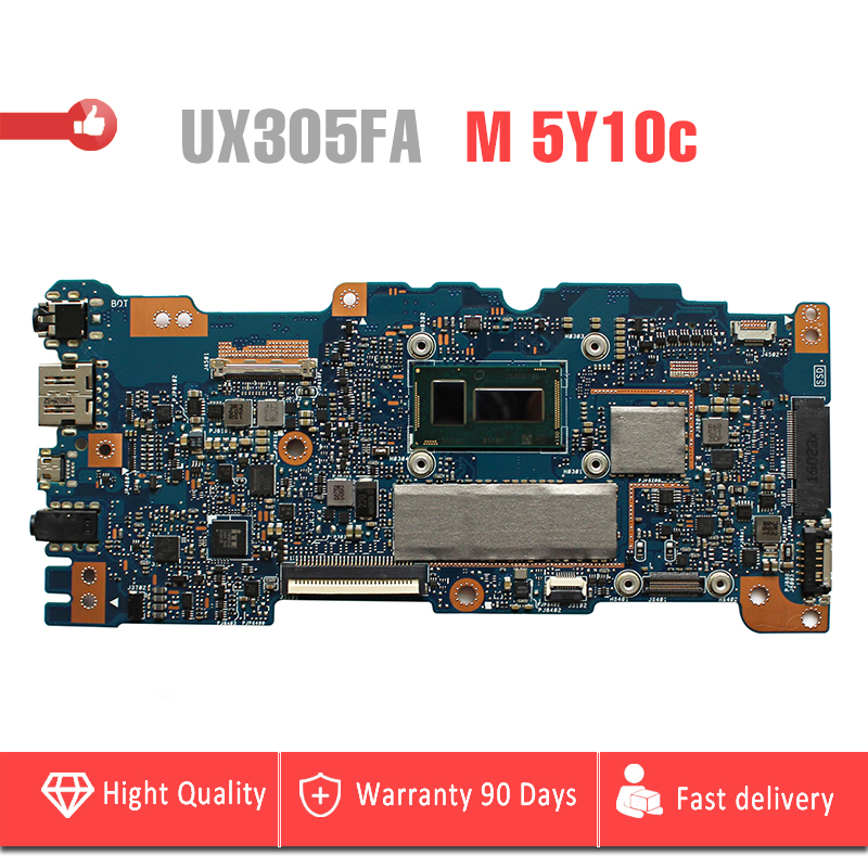 original for ASUS UX305 UX305F UX305FA motherboard with M 5Y10c CPU and 4G RAM P/N:90NB06X0-R00071 mainboard fully tested for asus x55vdr motherboard 4g ram i3 cpu rev3 1 100% tested integrated original new motherboard